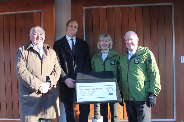 Bruce Crawford MSP visits Loch Lubnaig site.